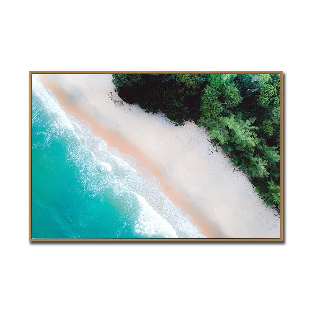 Arte de pared Seascape Wave póster mar playa cartel e impresión lienzo...