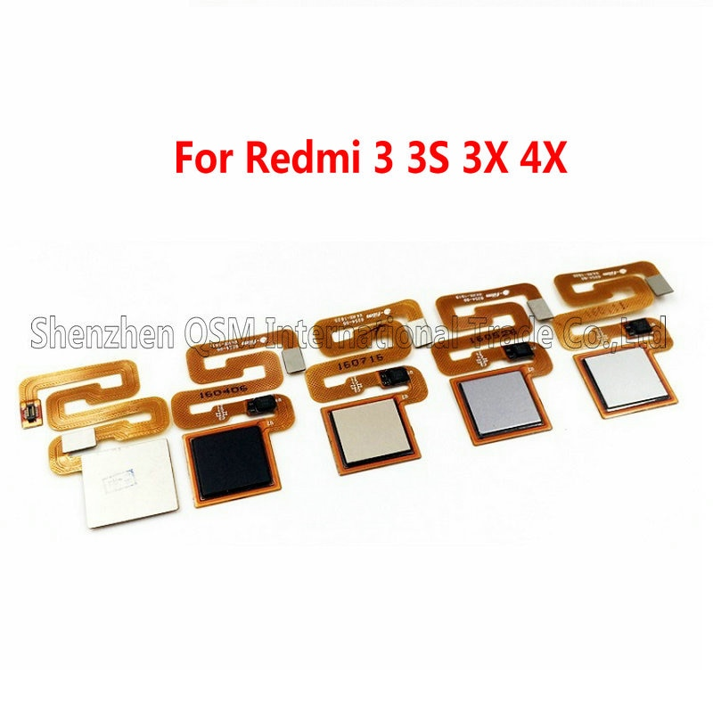 Prueba de 100% Sensor de huella digital original Home Return Tecla MENÚ botón Flex Cable Ribbon para Xiaomi Redmi 3 3S 3X 4X reemplazo