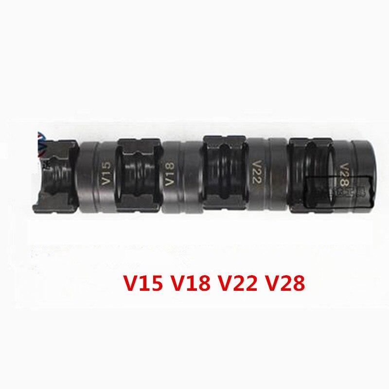 Abrazadera tubo hidráulico de acero inoxidable tubo de cobre prensado morir V15 V18 V22 V28 herramienta de prensado para tubería