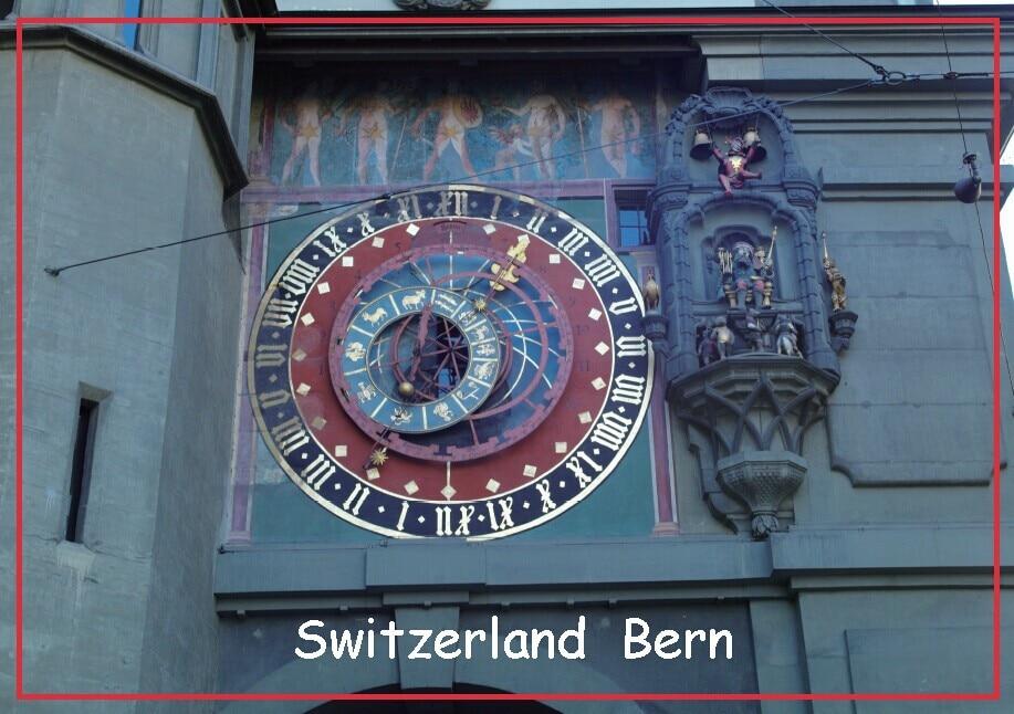 Туристические магниты 78*54*3 мм, часы-Башня Берна, туристические магниты на холодильник 20393, жесткие пластины для воспоминаний, магнитная накл...