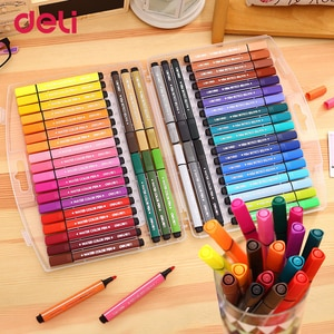 Deli Water color Pens markers highlighter Large Rod with invisible ink pen students Painting Pen Colorful drawing supplies 2017