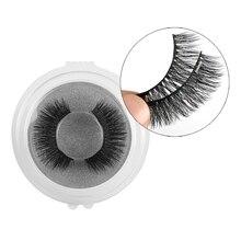 1 paire de double faux cils magnétiques maquillage naturel aimants sans colle réutilisable faux cils maquillage outils dextension de beauté