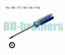 T5 T6 T7 T8 T9 T10 avec trou Torx tournevis clé PVC colorisé barre poignée tournevis outil de réparation en gros 120 pcs/lot
