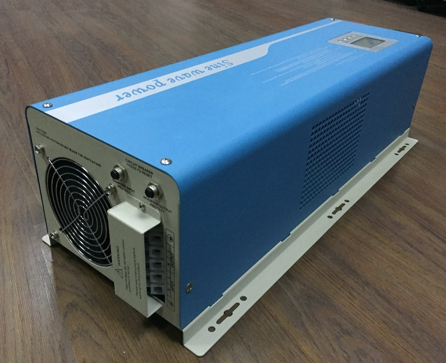 Inversor de corriente máxima de 6000W 12kW, inversor Solar de onda sinusoidal pura de corriente alterna CC 48V 96V a CA 220/230/240V, inversor Solar con transformador toroidal