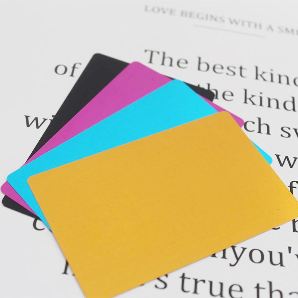 100Pcs 0.2mm Ultra-thin Aluminum Business Card Aluminum Alloy Card Laser Marking Engraving Business Access Business Card Blank