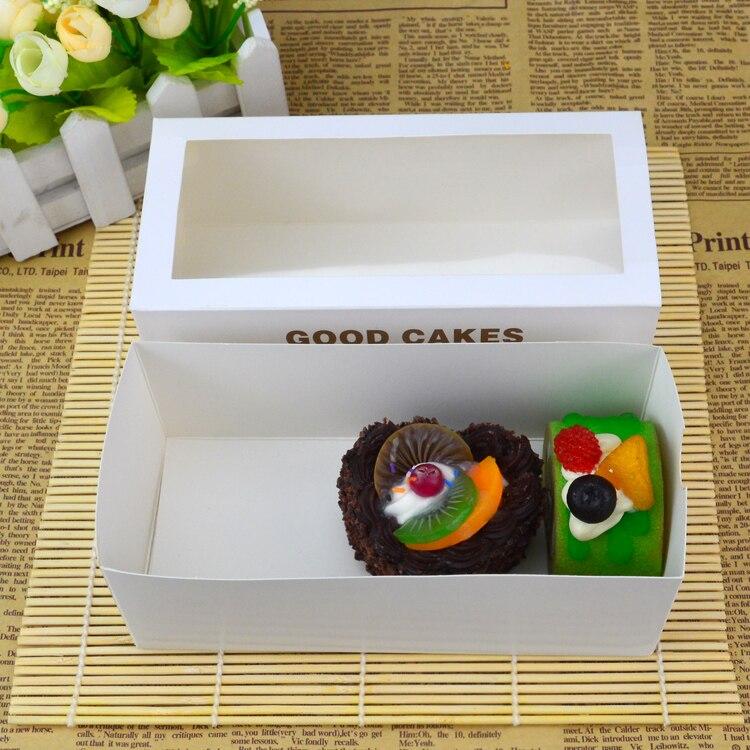 50 pcs Toalha bolo de rolo janela aberta caixa de cookie caixa de West Point caixa de gaveta transparente caixas de embalagem de alimentos