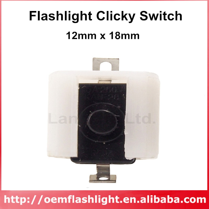 Diy led lanterna interruptor clicky 12mm x 18mm para lanterna led (5 pces)
