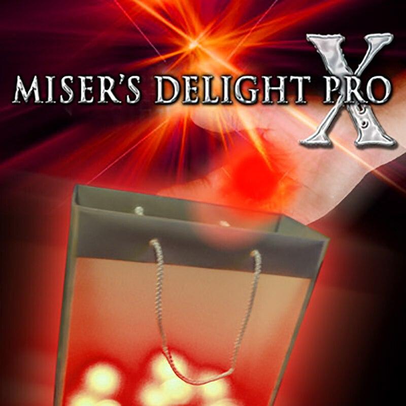 Misers Delight Pro X de Mark Mason (luz roja), trucos de magia, accesorios de magia