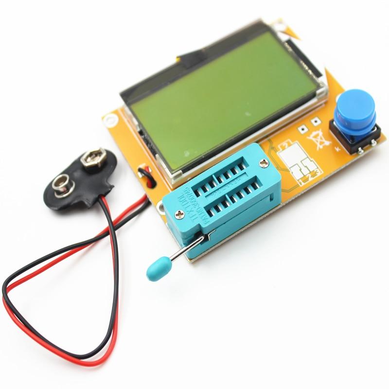 ESR-T4 Mega328 цифровой тестер транзисторов Диод Триод Емкость ESR метр MOS/PNP/NPN LCR 12864 9 в ЖК-экран