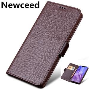 Genuine Leather Business Wallet Case Card Slot Holder For Xiaomi Poco X3 NFC/Xiaomi POCOphone F1/Xiaomi POCO F2 Pro Phone Cover