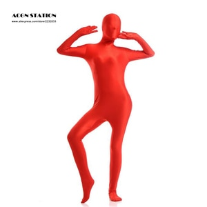 free shipping Skin Suit colorful exotic Zentai Suit catsuit exotic customized for open eyes mouth can add crotch zipper