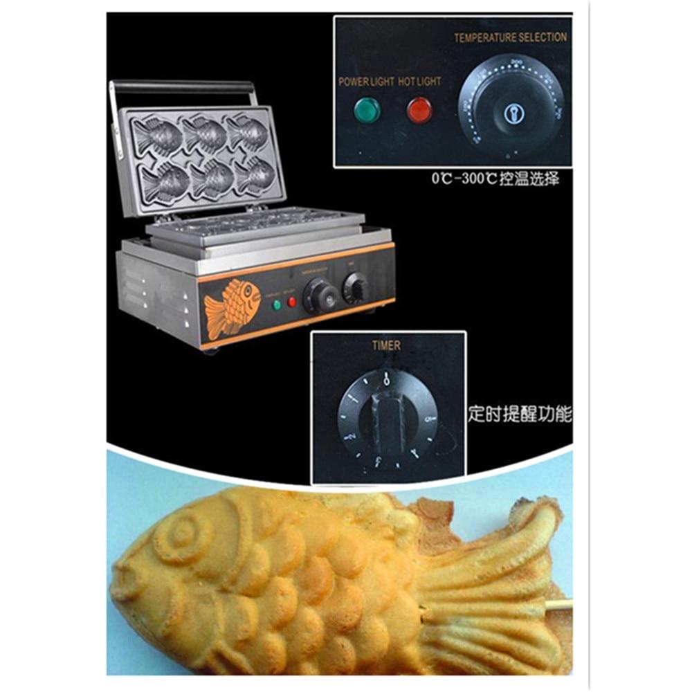Máquina Eléctrica de la torta de pescado Corea besugo forma de pescado waffle maker ZF