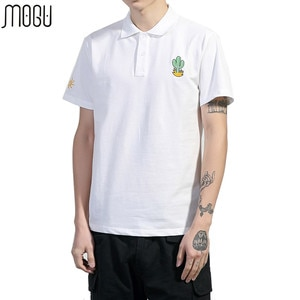 MOGU Fashion Solid Polo Shirt Men With Short Sleeves 2017 Summer New High Quality Men Brand Polo Asian Size 5XL Men's Polo Shirt