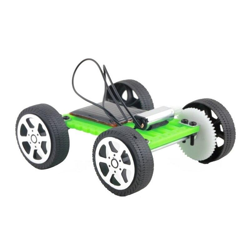 Nuevo rompecabezas educativo para niños IQ Gadget Robot juguetes solares niño Mini energía Solar juguete DIY montaje Coche