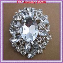 Free Shipping 6PCS/LOT Huge Glass Rhinestone Crystal Wedding Bridal Wedding Bonquet Brooch Luxy Women Costume Accessories