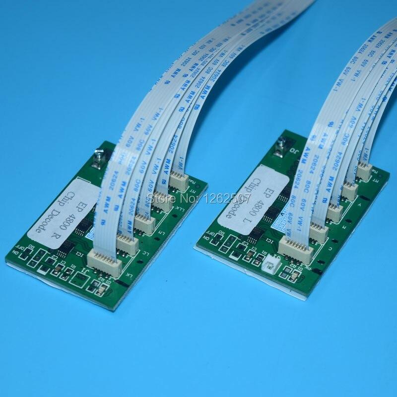 Envío Gratis Auto restablecer chip decodificador para Epson Stylus Pro 9880 de 7880 de 4880 de inyección de tinta plana UV impresora DTG chip decodificador
