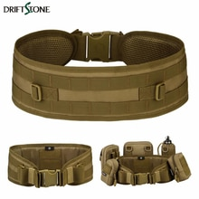 Nylon Molle Tactical Belt 600D Military Police Security Combat Belts Lumbar Waist Support Outdoor Hu