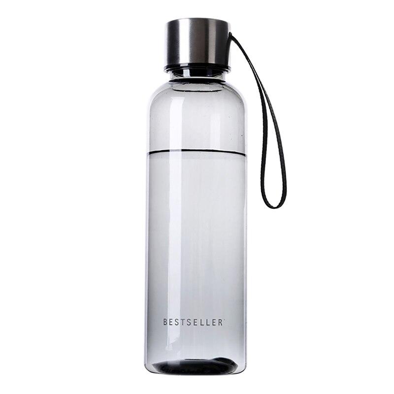 Botella de negocios portátil de 500 ml, zumo de frutas, leche, deportes, Camping, ciclismo, botellas de agua transparentes de plástico