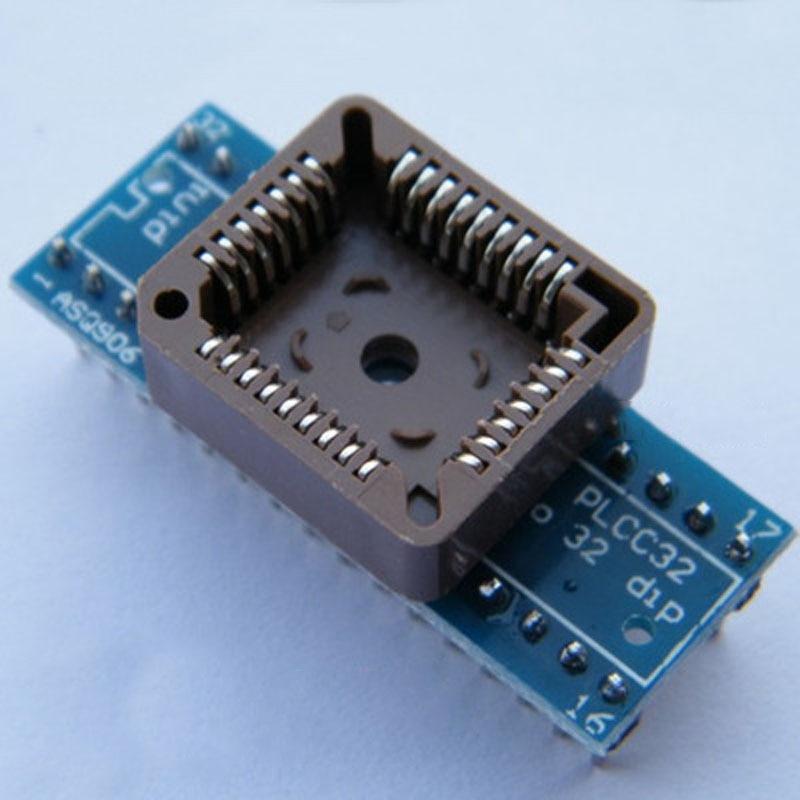 PLCC32 a DIP32 enchufe de programación adaptador de BIOS que funciona para RT809H RT809F programador ZIF test scoket