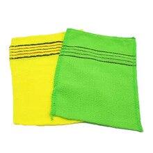 2 pièces serviette de douche gants coréen italie asiatique exfoliant bain gant de bain gant de bain nettoyage du corps gommage gant gommage Kit