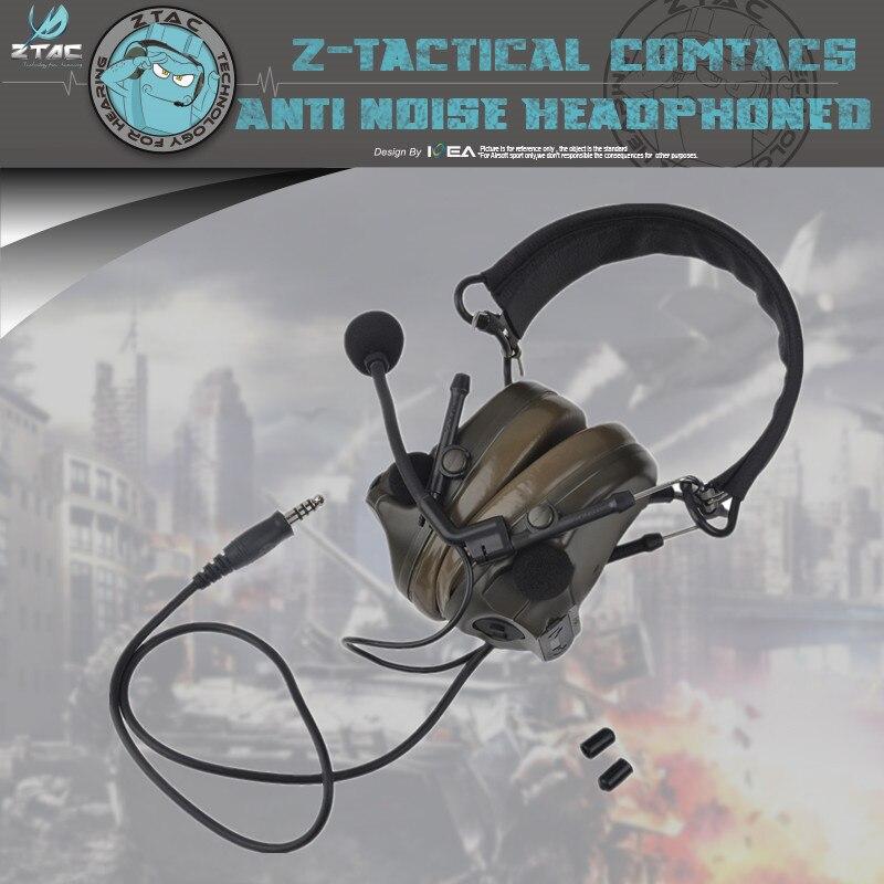 Genuine Latest Upgrade Z051 Z-tactical Headset Flexible Comtac III C3 Peltor 4 kinds of color
