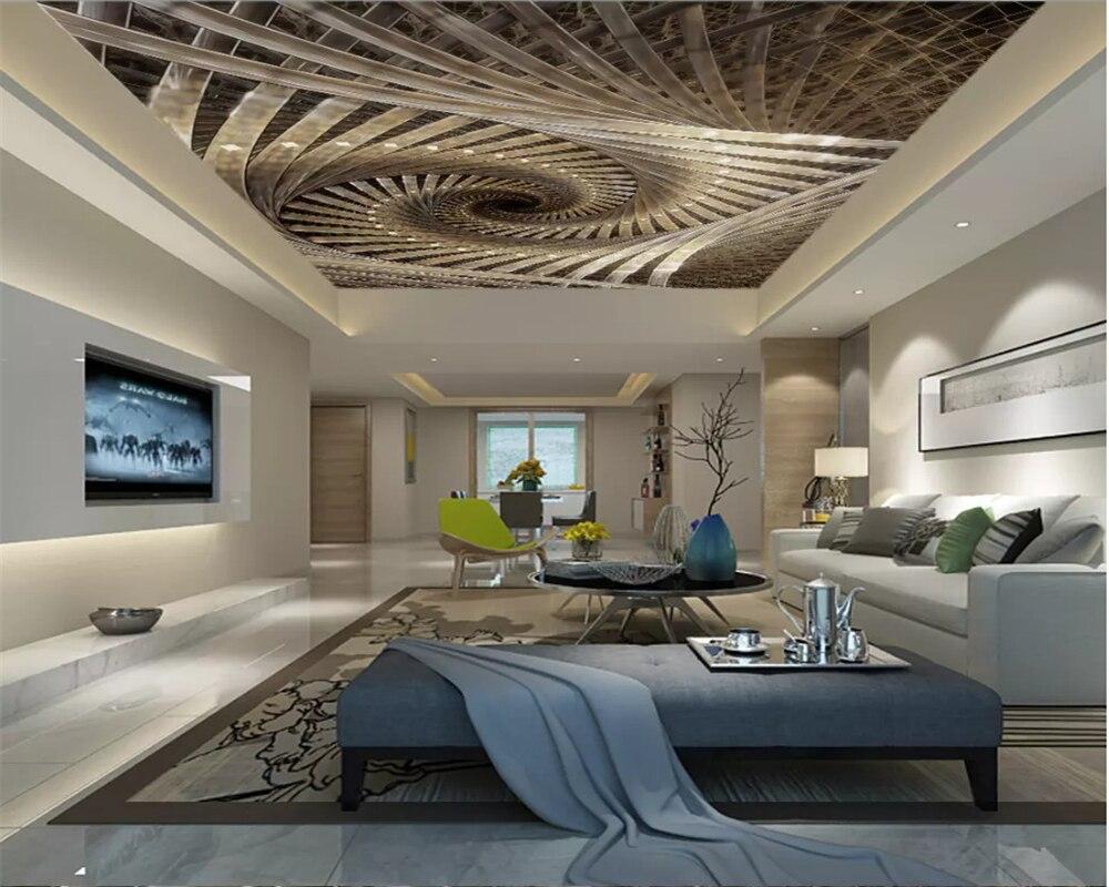 Beibehang-papel tapiz personalizado para el techo de la sala de estar, papel...
