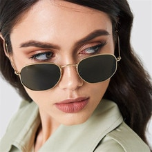 2021 New Fashion Polygon Sunglasses Women Men Brand Designer Vintage Clear Sun Glasses Sexy Couple E