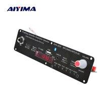 AIYIMA 3.7V amplificateur Bluetooth 20W Microphone karaoké réverbération amplificateur soutien AUX FM MP3 WAV APE FLAC USB TF décodage