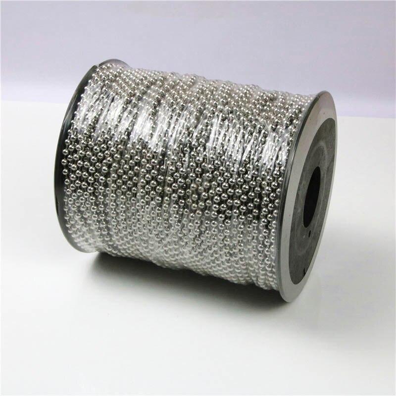 Металлические шарики из нержавеющей стали 4,5/3,2 мм, 2 м/лот, круглые шарики для изготовления ожерелий, филигранные мужские украшения