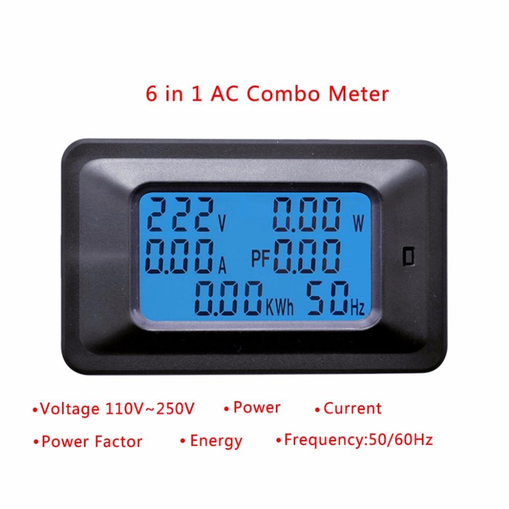 20A/100A AC LCD цифровая панель мощность Ватт метр монитор напряжение кВтч Вольтметр Амперметр тестер Tools-831F