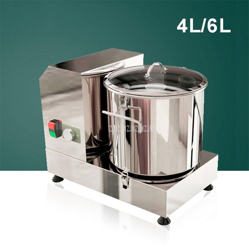 4L/6L eléctrico PICADORA DE CARNE máquina verduras ajo de jengibre picadora de cortador de Casa Hogar de acero inoxidable procesador de alimentos