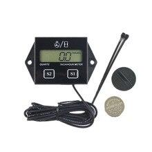 Display lcd digital medidor de hora tach medidor tacômetro motor indutivo para o motor da motocicleta motosserra marinha pit bike barco