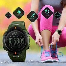 SKMEI Bluetooth calories podomètre montre intelligente pour hommes LED eau résistant aux chocs horloge multifonction électronique numérique montres Sport