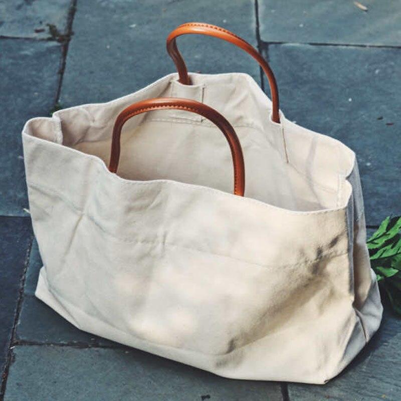 Bolsa casual feminina, bolsa casual de lona, ombro, mão, compras, 2019