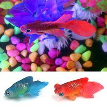 1 шт., Искусственный аквариум, украшение, светящийся эффект, золотая рыбка, аквариум, украшение, эффект, светящийся кремний, милые игрушки, вы...