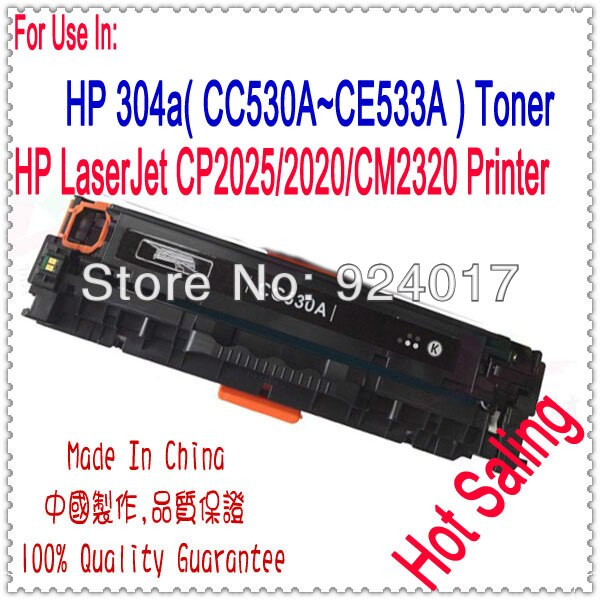 ل HP CP2020 CP2025 CM2320 CP 2020 2025 سنتيمتر 2320 اللون خرطوشة حبر الطابعة ، CC530A CC531A CC532A CC533A 304A الحبر خرطوشة