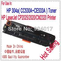 For HP CP2020 CP2025 CM2320 CP 2020 2025 CM 2320 Color Printer Toner CartridgeCC530A CC531A CC532A CC533A 304A Toner Cartridge