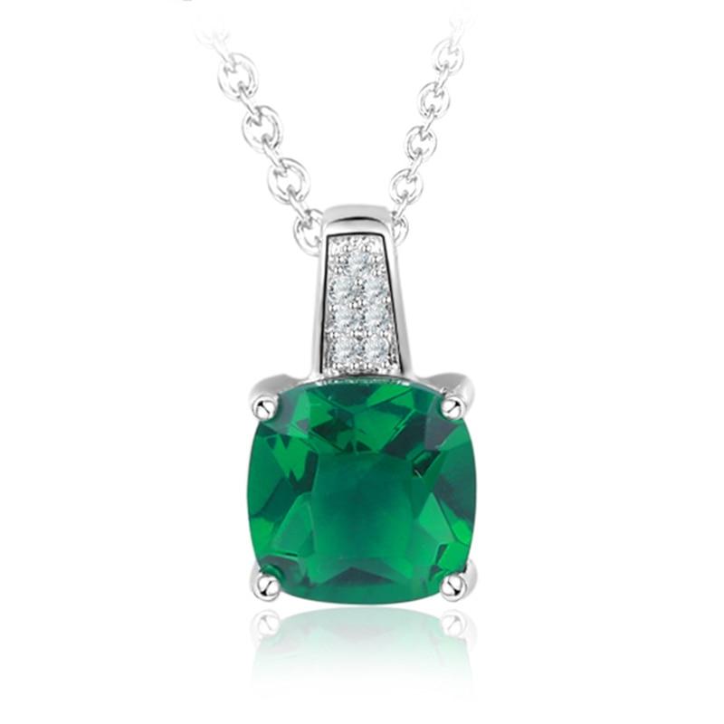 Женское ожерелье с подвеской AMORUI, ожерелье с подвеской из зеленого циркония AAA