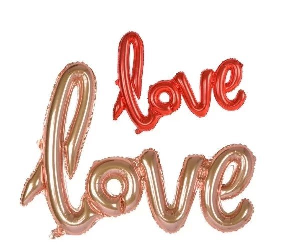 New Design 50pcs/lot Big size connected LOVE inflatable helium Foil  Balloon gold red Wedding for party decoration free shipping
