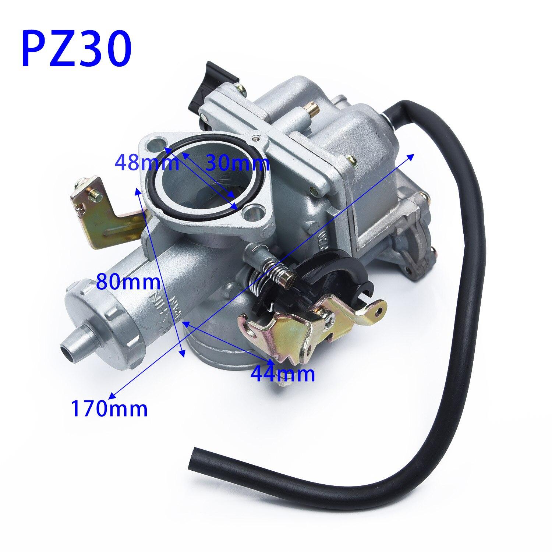PZ30 30mm Carburetor Carb Replacement For 200/250cc Engine Fit PIT Dirt Bike Motorcycle ATV Quad 4 Wheeler.