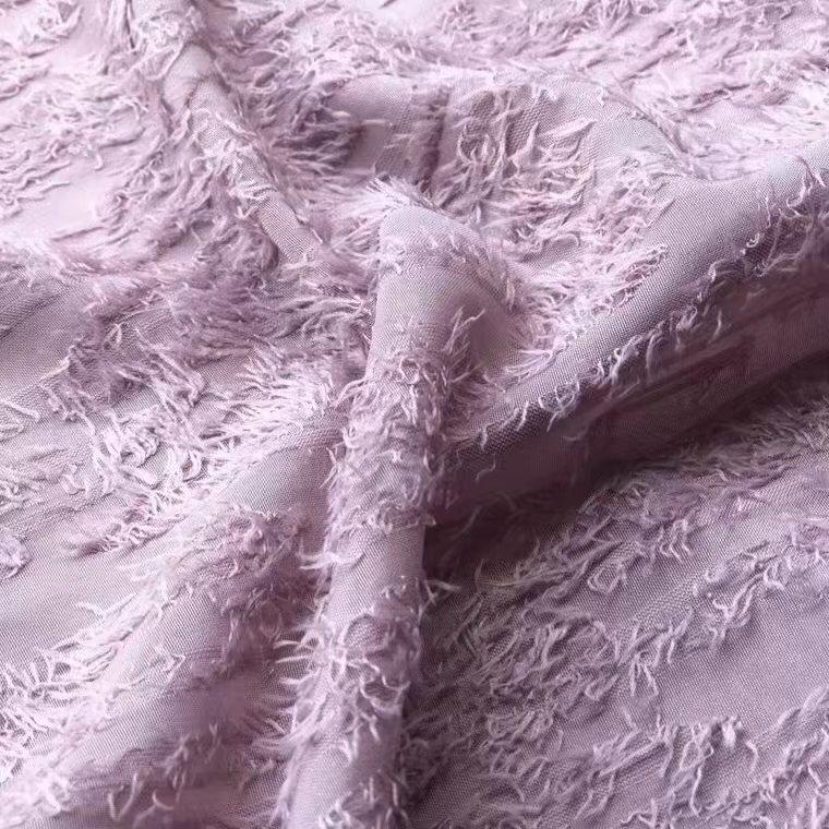 Fabricante directo nuevo otoño corte seda gasa Camisa de gasa seda telas punto Vestido corte gasa telas
