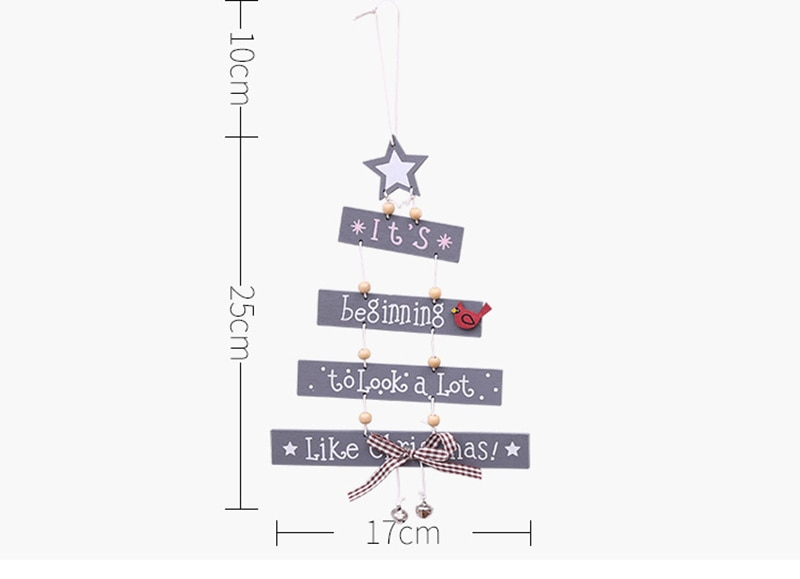 Adornos navideños colgantes de árbol de Navidad adornos de letras colgantes adornos creativos de árbol adornos navideños para el hogar
