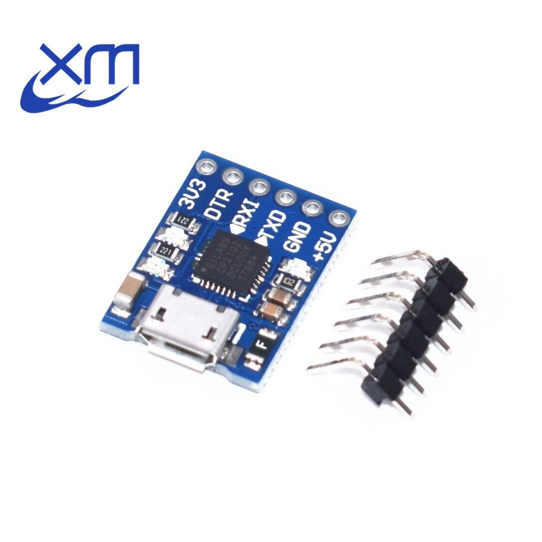 CJMCU CP2102 MICRO USB a UART módulo TTL 6Pin convertidor serie UART STC reemplazar FT232 nuevo I41
