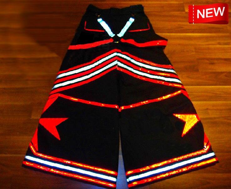 ¡Novedad! rojos pantalones de mezclilla de Melbourne, pantalones fluorescentes para DJ PHAT, pantalones Raver ore Techno Hardstyle, pantalones reflectantes de Tanz Hose