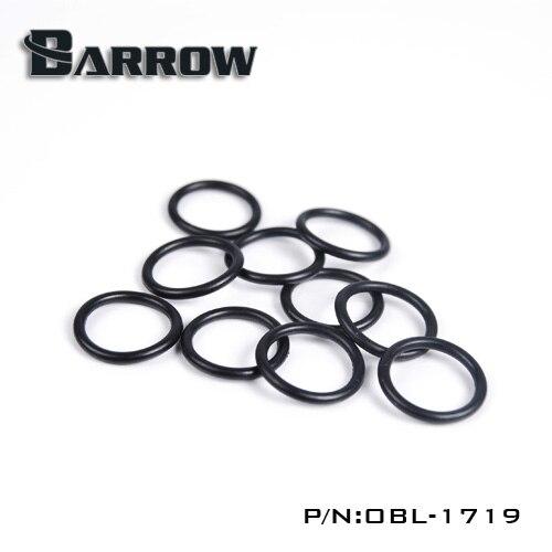 Жесткая трубка Barrow od14 мм, черное Силиконовое уплотнительное кольцо, 10 шт./компл., аксессуары для жидкостного охладителя, Силиконовое уплотнительное кольцо