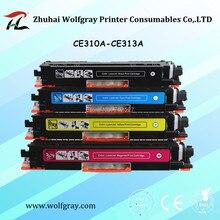 YI, LE CAI 4Pk cartouche de toner compatible pour HP 126A CE310A 310a CE311A 311a CE312A 312a CE313A 313a LaserJet Pro CP1025 1025nw