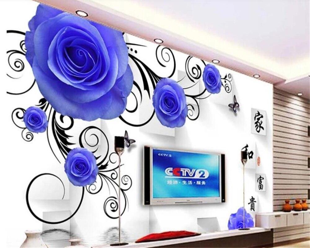 Papel pintado beibehang behang, Fondo de sala de estar, foto HD, relieve floral, 3D efecto visual, papel tapiz para habitación de hotel, mural