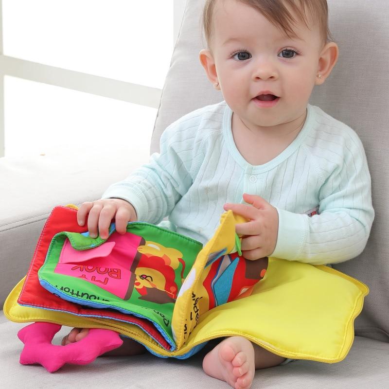 Juguetes bonitos para niños, libro de puzles para bebés, bolsa suave, libro 3D, tela de papel, anillo de relleno suave, juguetes cognitivos para morder