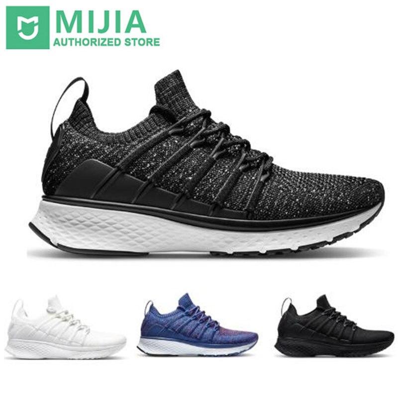 Xiaomi mijia tênis esportivo smart, 2 tênis uni-moulding com tecnologia uni-moulding e espinha de peixe, sistema de travamento, malha elástica, vamp, absorção de impacto sole