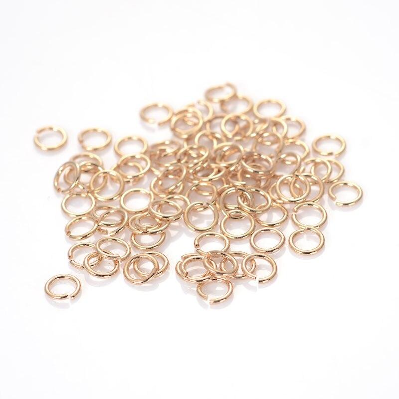 Miasol 200 unids/lote anillos de salto de chapado en plata/oro anillos de salto abiertos y anillos divididos para joyería Diy joyería encontrar